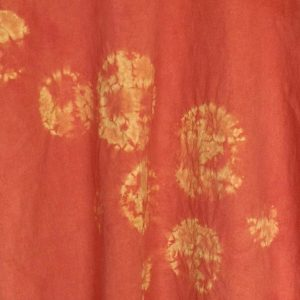 Madder, Myrobalan, Osage Orange, Queen Anne's Lace naturally dyed cotton tunic