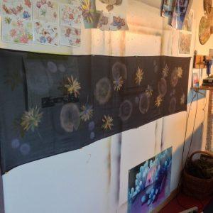 Day 2, my studio wall (WIP, work in progress)