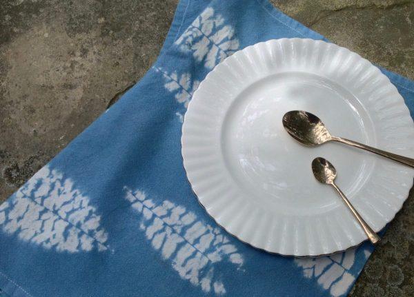 Shibori and Indigo table napkins
