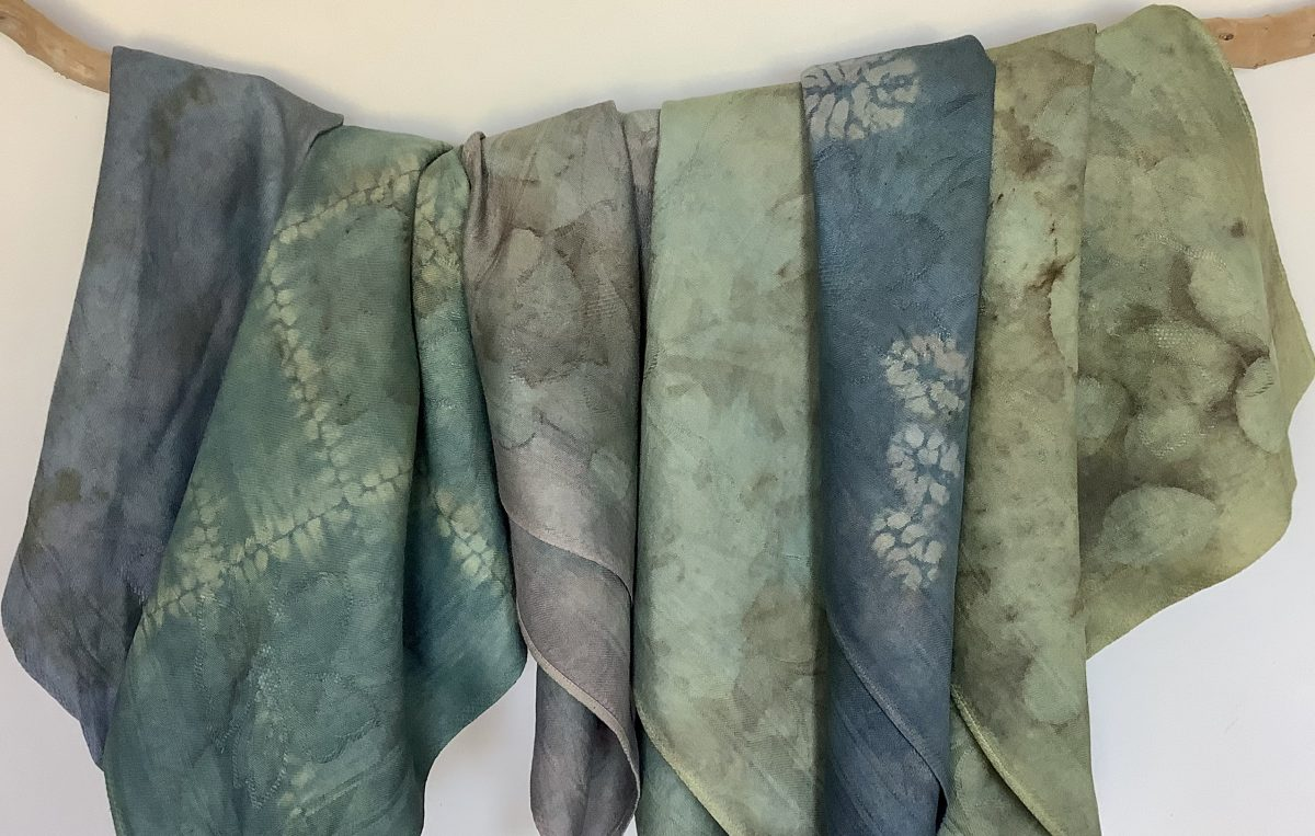 Natural dyes and shibori